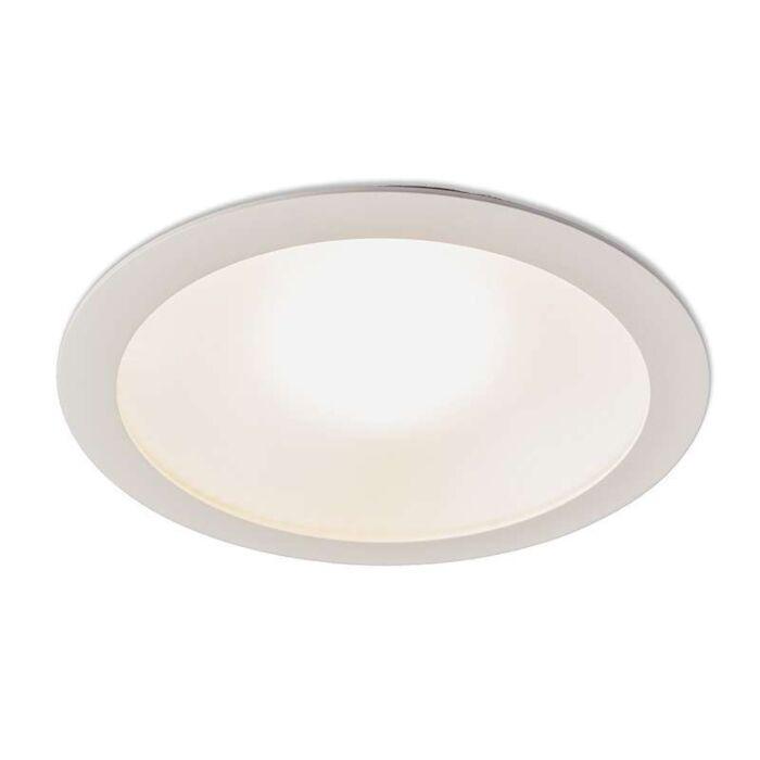 Stor-spotlight/downlight-'Invaser-25W'-Moderna-vit/aluminium---LED-inkluderat-/-Inomhus