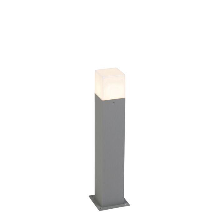 Modern-stående-utomhuslampa-50-cm-grå-IP44---Danmark