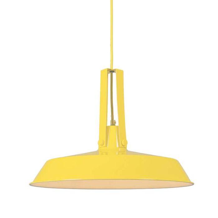 Taklampa-'Living-40'-Retro-gul/metall---Passande-för-LED-/-Inomhus