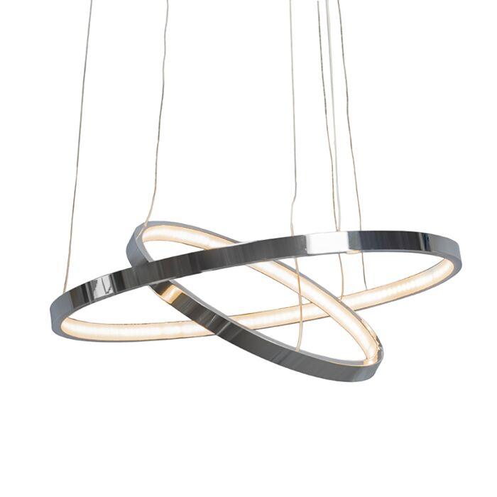 Taklampa-'Halo'-Moderna-krom---LED-inkluderat-/-Inomhus