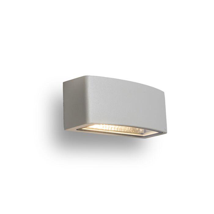Vägglampa-'Latina'-Moderna-grå/aluminium---Passande-för-LED-/-Utomhus