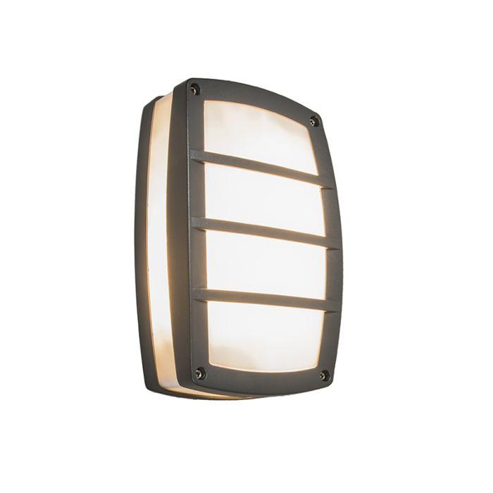 Vägglampa-'Glow-S-II'-Moderna-grafit/polyester---Passande-för-LED-/-Utomhuslampa