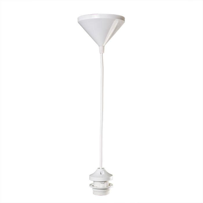 Taklampa-'30cm-E27'-Nej-vit/polyester---Passande-för-LED-/-Inomhus