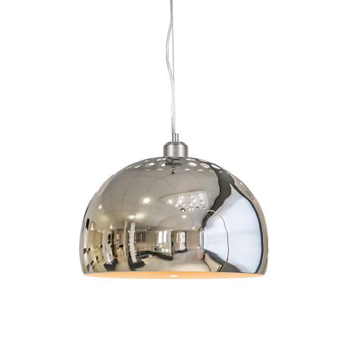 Taklampa-'Globe-33'-Moderna-krom---Passande-för-LED
