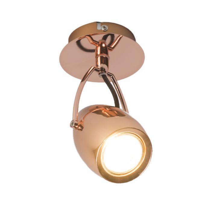 Plafond-strålkastare-'Element-1'-Design-koppar---Passande-för-LED-/-Inomhus