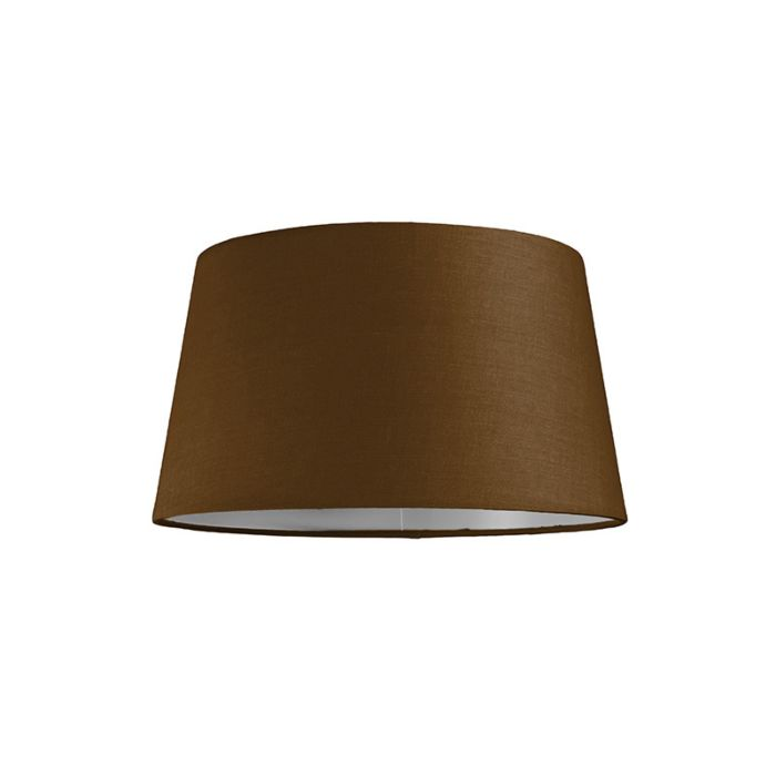 Lampskärm-'30cm-R-SU-E27'-Nej-brun/tyg-Passande-för-LED