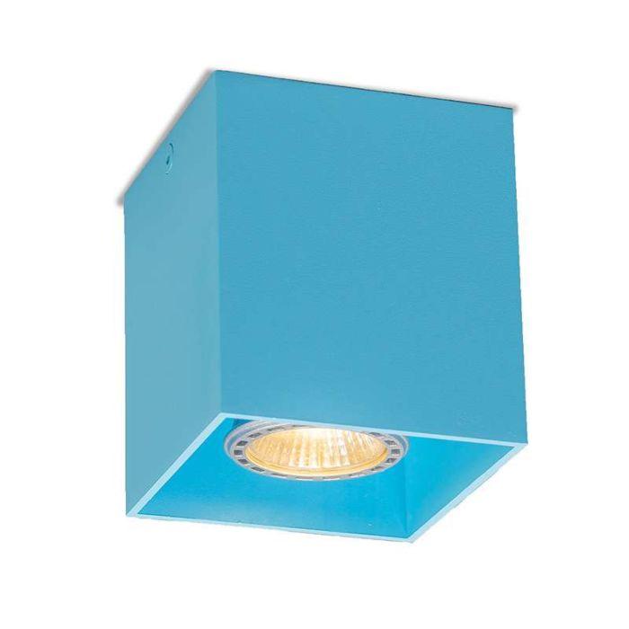 Plafond-strålkastare-'Qubo-1-S'-Moderna-blå/aluminium---Passande-för-LED-/-Inomhus