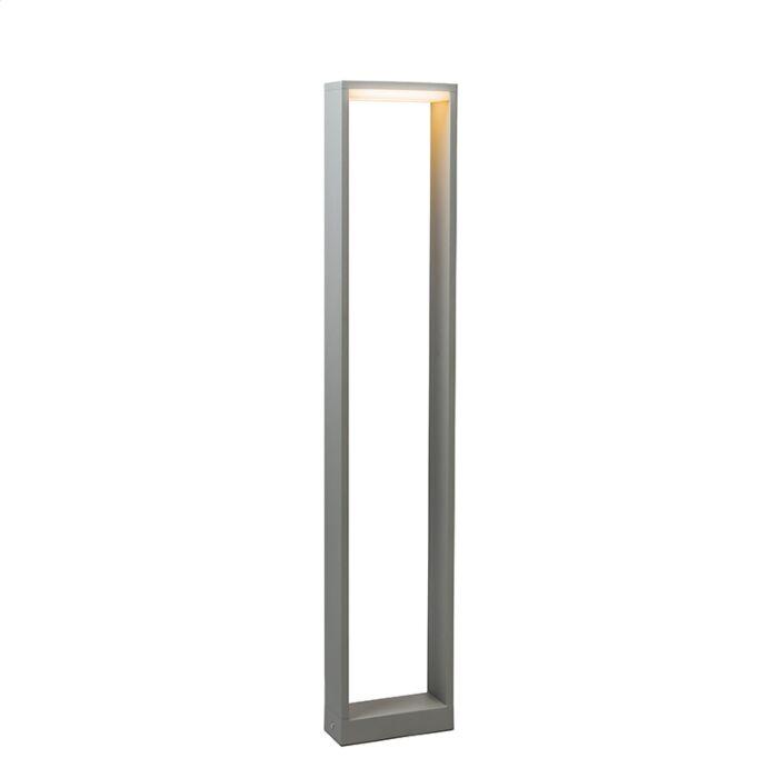 Lykta-till-gång-och-terrass-'Frame-80'-Design-grå/aluminium---LED-inkluderat-/-Utomhuslampa