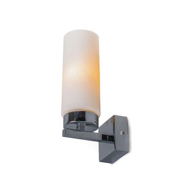 Vägglampa-'Agape-1'-Moderna-krom/rostfritt-stål---Passande-för-LED-/-Inomhus,-Badrum
