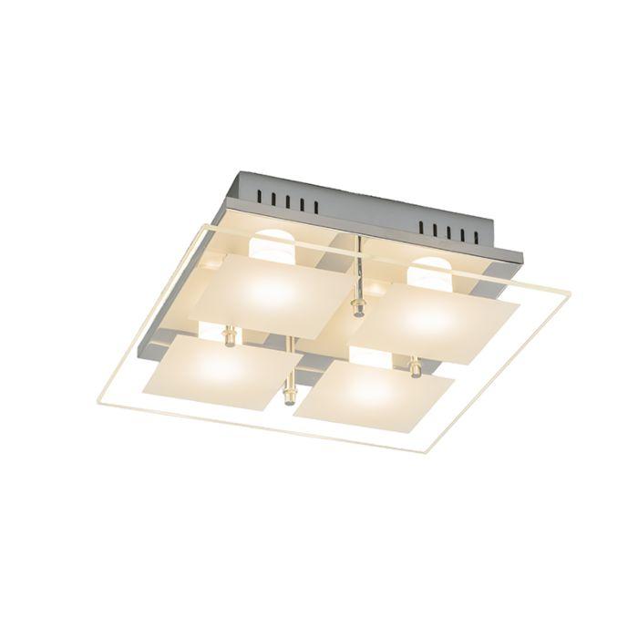 Plafond-'Quadrate-4'-Moderna-krom---LED-inkluderat-/-Inomhus