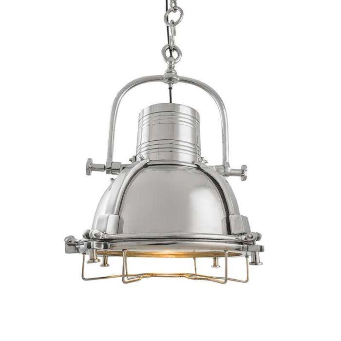 Taklampa-'Raw-III'-Industriell-krom/nickel---Passande-för-LED-/-Inomhus