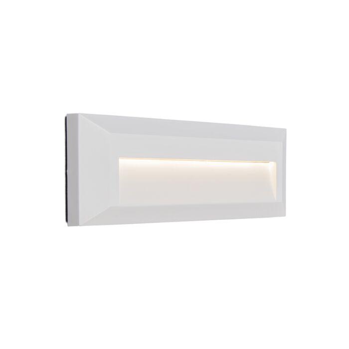 Vägglampa-'Rock-1'-Moderna-vit/polyester---LED-inkluderat-/-Utomhuslampa,-Inomhus
