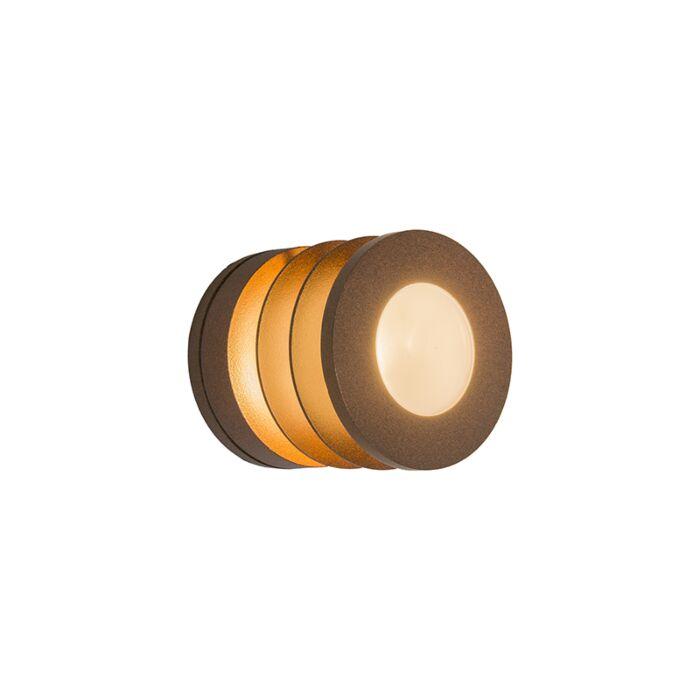 Vägglampa-'Beacon'-Lantlig-lila/aluminium---Passande-för-LED-/-Utomhuslampa