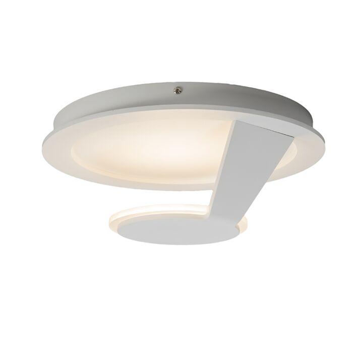 Plafond-och-vägglampa-'Satellite-1'-Moderna-vit/aluminium---LED-inkluderat-/-Inomhus,-Badrum