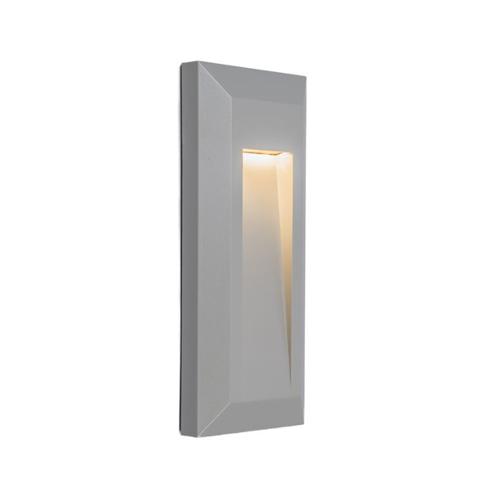 Vägglampa-'Rock-2'-Moderna-grå/polyester---LED-inkluderat-/-Utomhus,-Inomhus,-Badrum