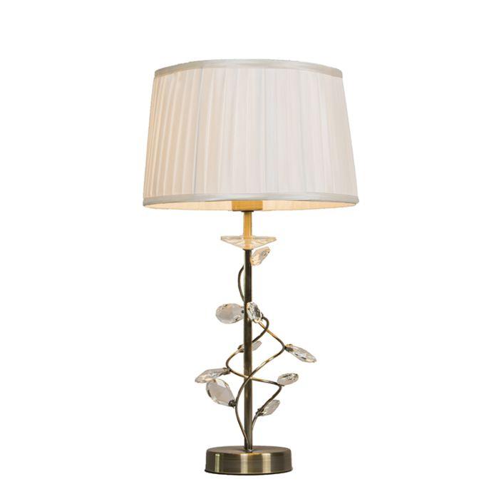 Bordslampa-med-skärm-'Ruffle'-Klassisk-brons---Passande-för-LED-/-Inomhus