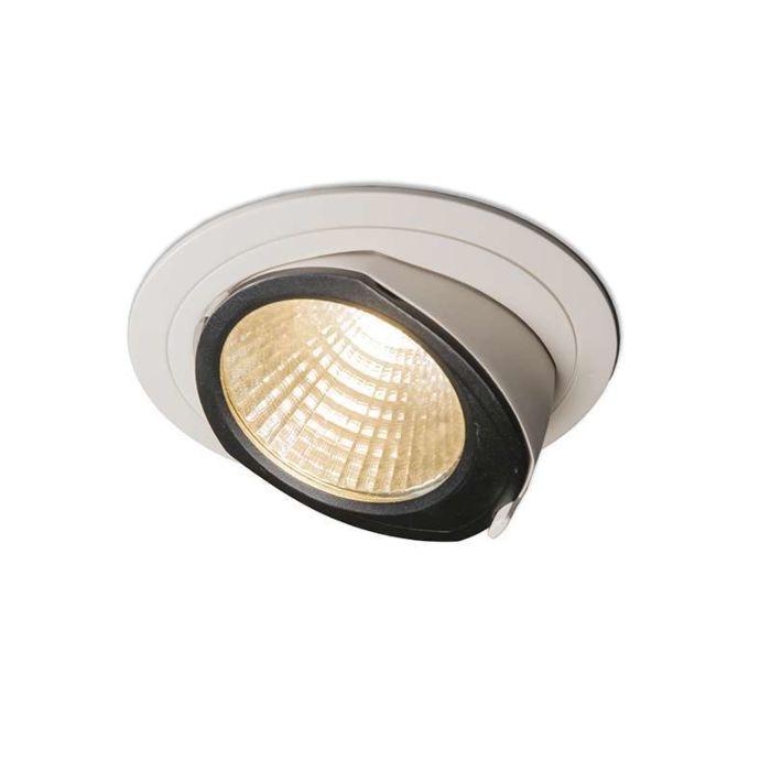 Stor-spotlight/downlight-'Ruler-II'-Moderna-flerfärgad/aluminium---LED-inkluderat-/-Inomhus