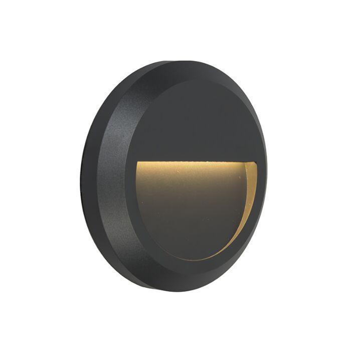 Vägglampa-'Moonlight'-Moderna-grafit/polyester---LED-inkluderat-/-Utomhus,-Inomhus,-Badrum