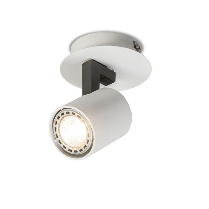 Plafond-strålkastare-'Fuse-1'-Design-vit/aluminium---Passande-för-LED-/-Inomhus