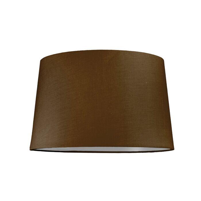 Lampskärm-'40cm-R-SU-E27'-Nej-brun/tyg-Passande-för-LED