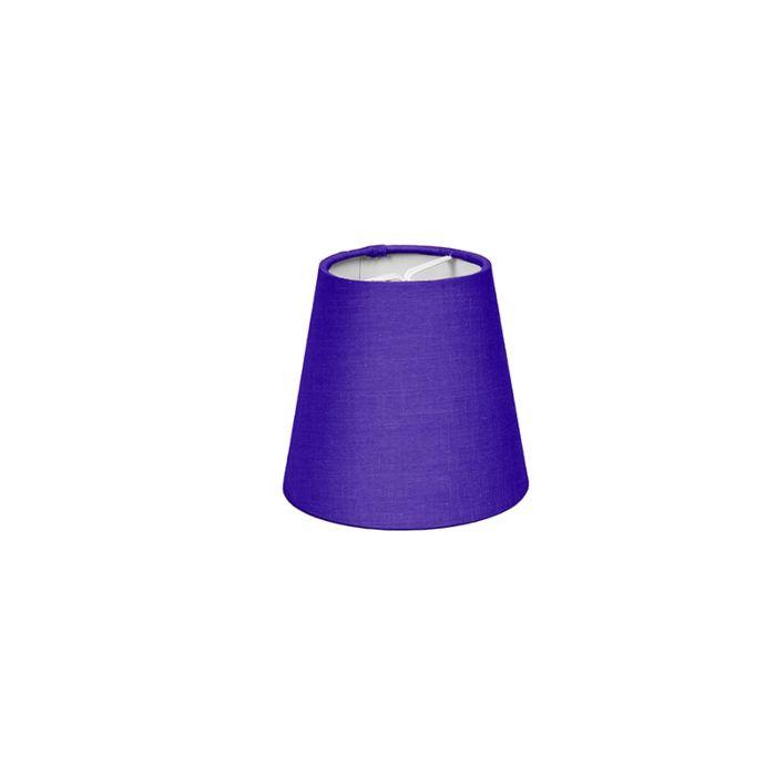 Skärm-med-glödlampsfäste-'10cm-R-SC'-Nej-lila/tyg