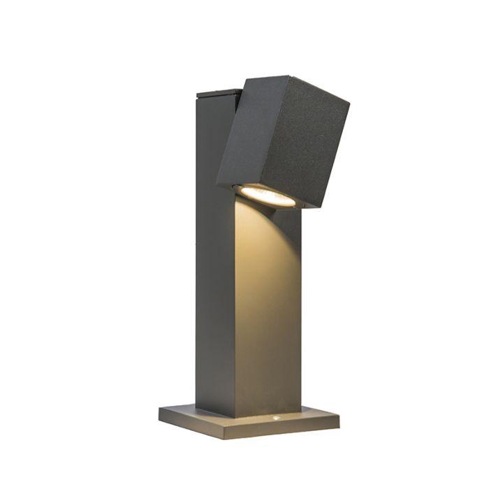 Lykta-till-gång-och-terrass-'Baleno-30'-Moderna-grafit/aluminium---LED-inkluderat-/-Utomhuslampa