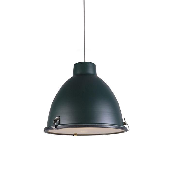 Taklampa-'Anteros-38'-Industriell-grön/metall---Passande-för-LED-/-Inomhus