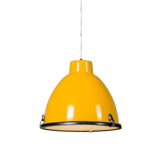 Taklampa-'Anteros-38'-Industriell-gul/metall---Passande-för-LED-/-Inomhus