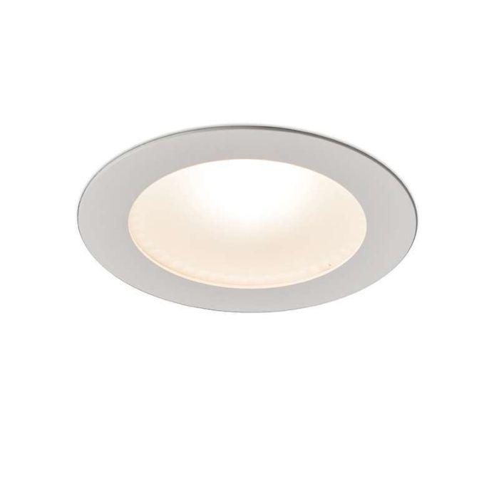 Stor-spotlight/downlight-'Invaser-10W'-Moderna-vit/aluminium-LED-inkluderat