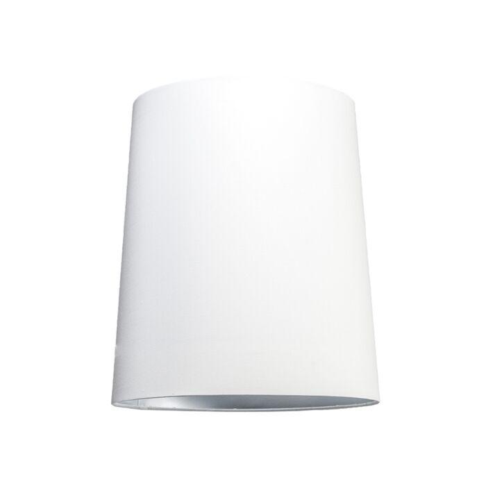 Lampskärm-'35cm-R-SU-E27'-Nej-vit/tyg-Passande-för-LED