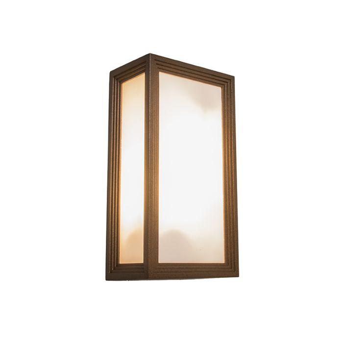 Vägglampa-'Tide-II'-Moderna-brunrost/aluminium---Passande-för-LED-/-Utomhuslampa