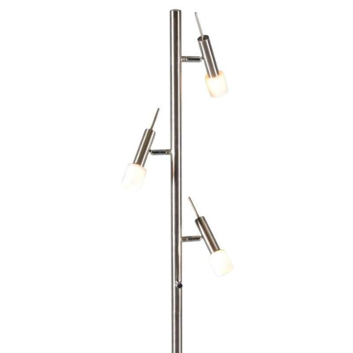 Golvlampa-'Capri-3'-Moderna-stål---Inomhus