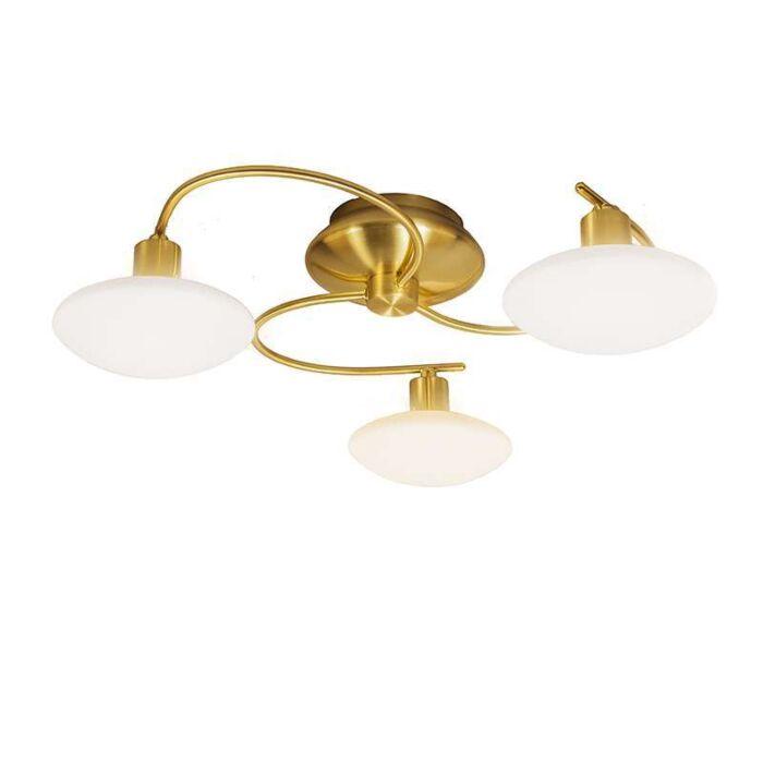 Plafond-'Saturno-3'-Klassisk-guld---Passande-för-LED-/-Inomhus
