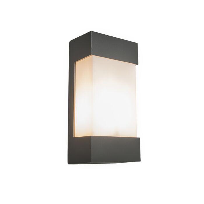 Vägglampa-antracit-IP54---Tidvatten