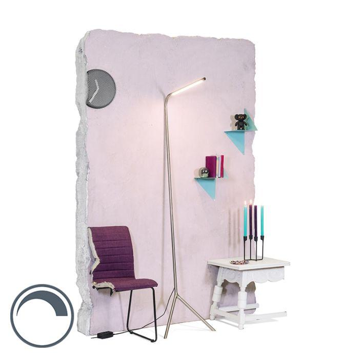Modern-Golvlampa-Stål-inkl.-LED---Lazy