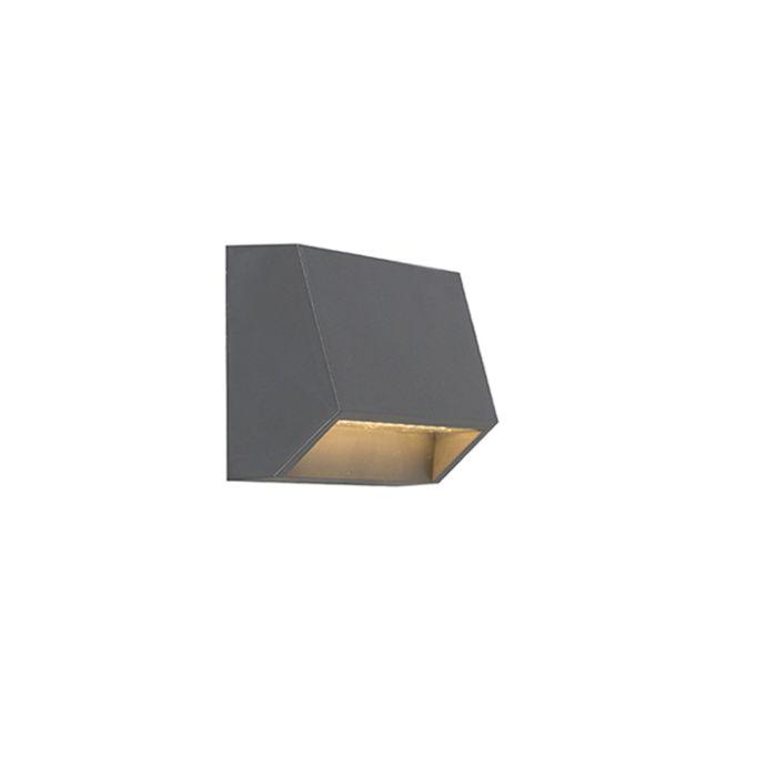 Modern-yttervägglampa-mörkgrå-inkl-LED-IP54---Sandsten-1