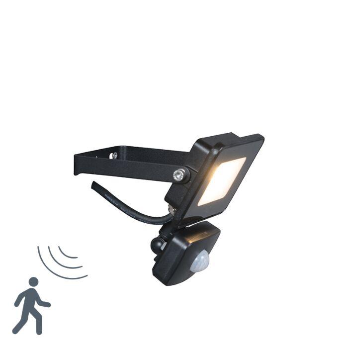 LED-strålkastare-svart-inkl.-LED-med-rörelsesdetektor---Radius-1