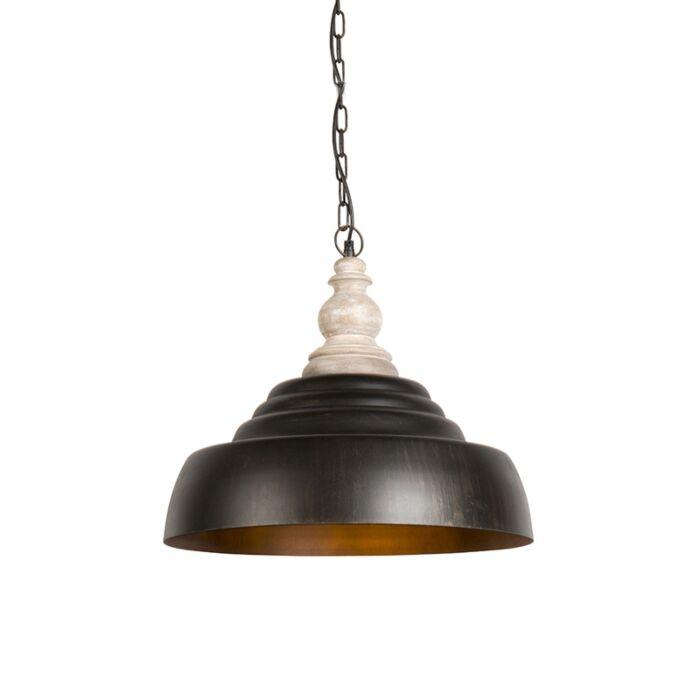 Taklampa-'HL-Trina'-Lantlig-brunrost/metall---Passande-för-LED-/-Inomhus
