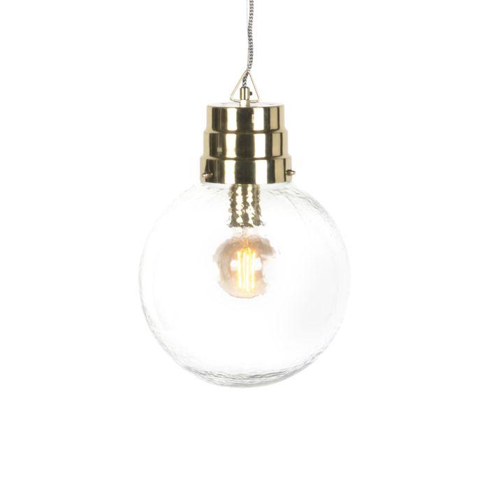 Taklampa-'HL-Chennai'-Design-guld/glas---Passande-för-LED-/-Inomhus