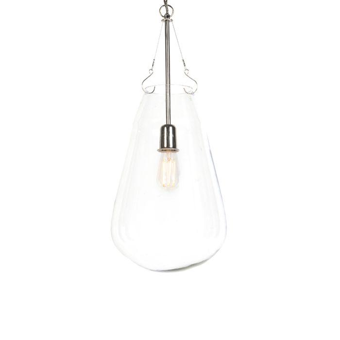 Taklampa-'HL-Sikka'-Design-transparent/glas---Passande-för-LED-/-Inomhus
