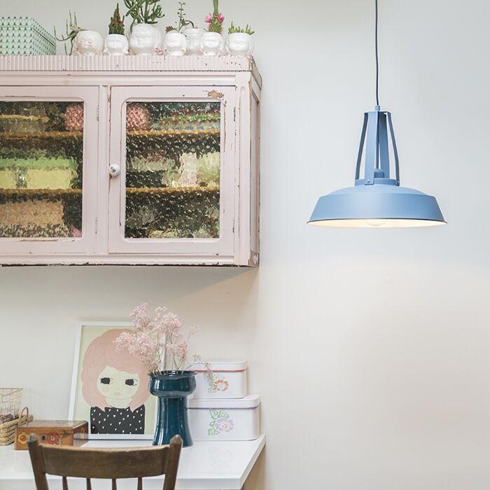 Vintage-hängande-lampa-blå-43-cm---Living