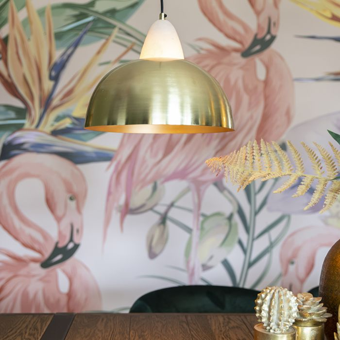 Taklampa-'Albasta'-Moderna-guld/rotting---Passande-för-LED-/-Inomhus