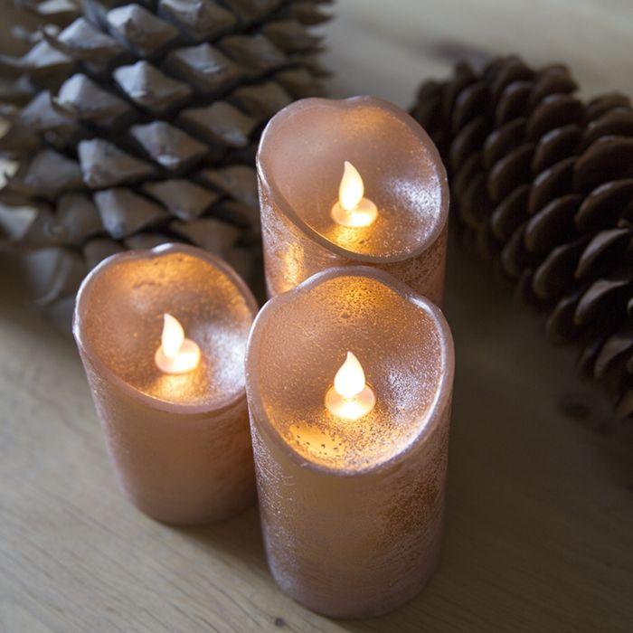 Bordslampa-'Julljus-dekoration-ljus-LED-koppar-uppsättning-av-3'-Lantlig-koppar/Nej-LED-inkluderat
