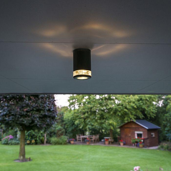 Plafond-strålkastare-'Fox'-Moderna-grafit/aluminium---Passande-för-LED-/-Utomhus,-Badrum