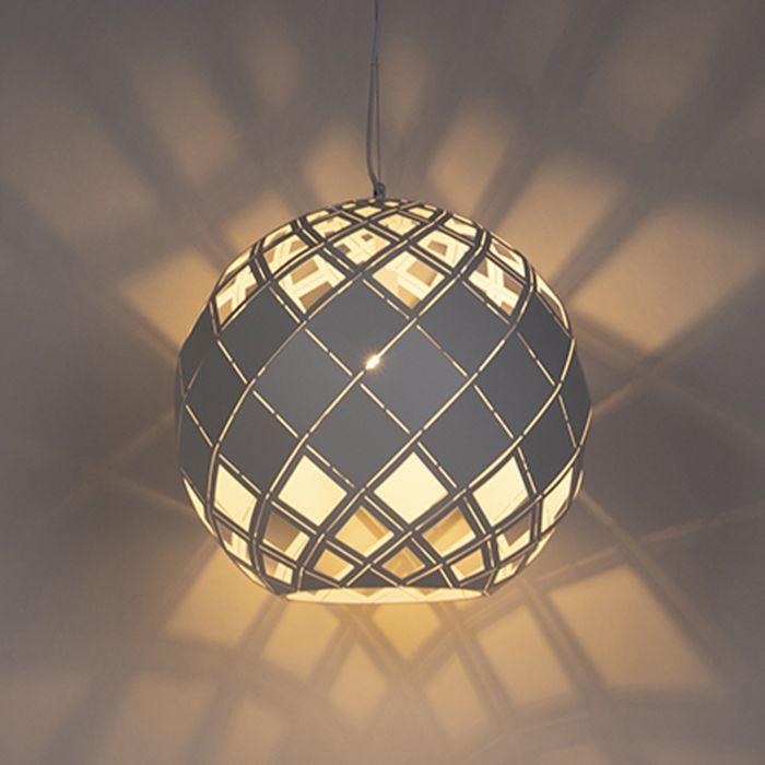 Art-Deco-Pendellampa-Vit---Tourmaline