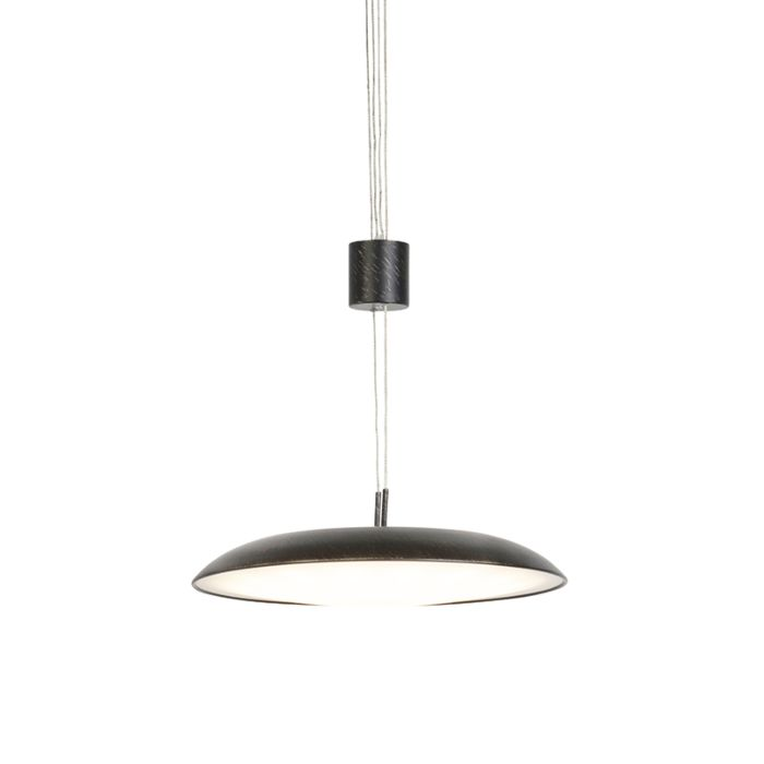 Taklampa-'Daxam'-Moderna-brun/metall---LED-inkluderat-/-Inomhus