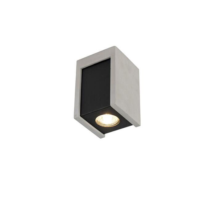 Plafond-strålkastare-'Brox-'-Industriell-grå/sten/betong---Passande-för-LED-/-Inomhus