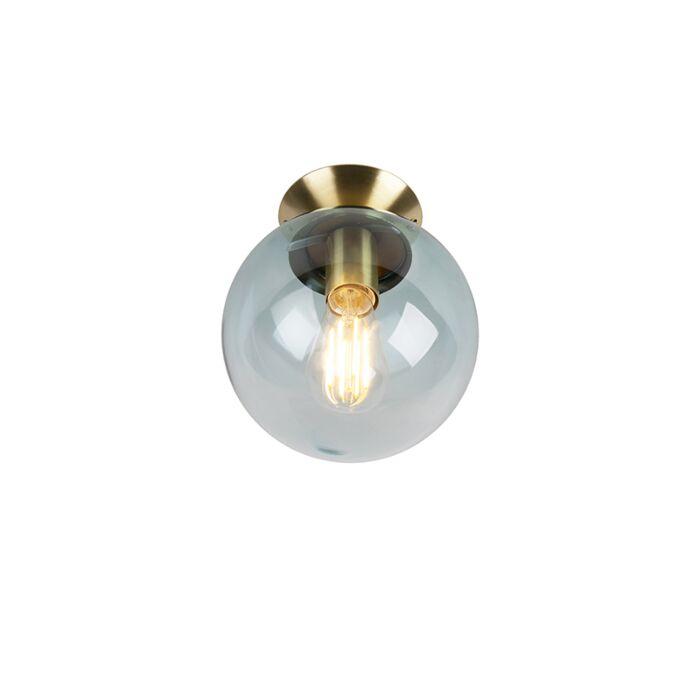 Taklampa-'Pallon'-Art-Déco-blå/glas---Passande-för-LED-/-Inomhus