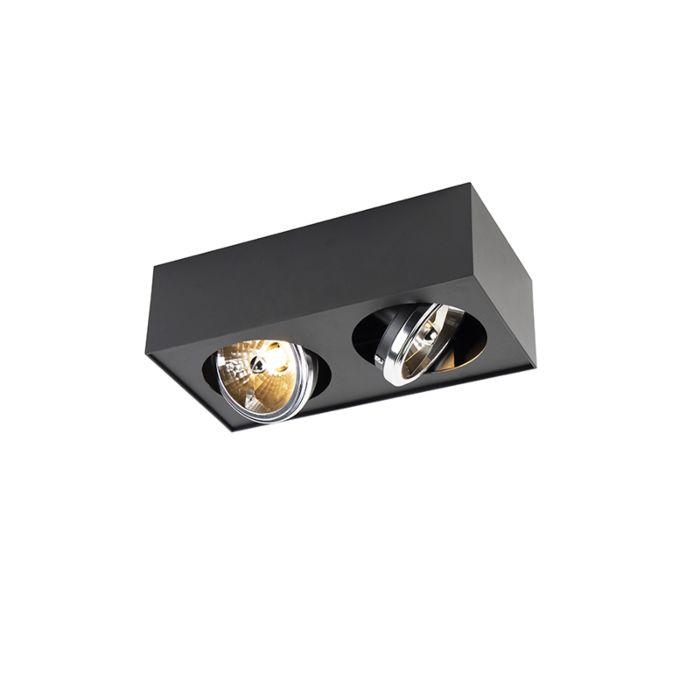 Design-plats-kvadratisk-2-lampor-inkl-G9-svart---Kaya