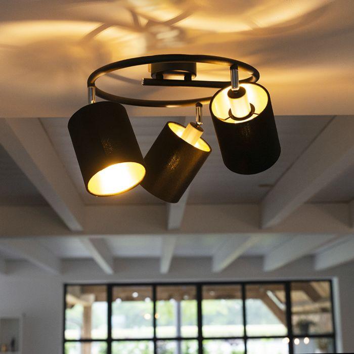 Modern-taklampa-svart---Lofty